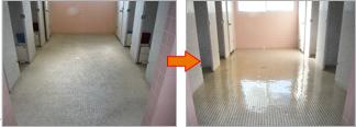トイレ洗浄とコーティング加工